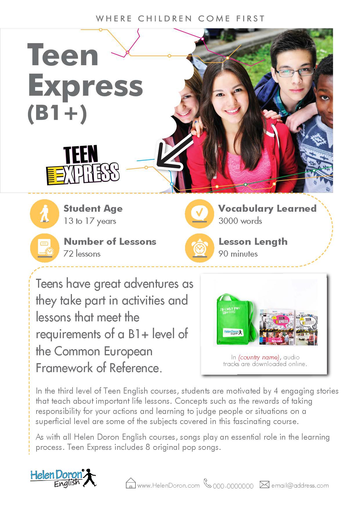 Letöltés - Teen Express (B1+)