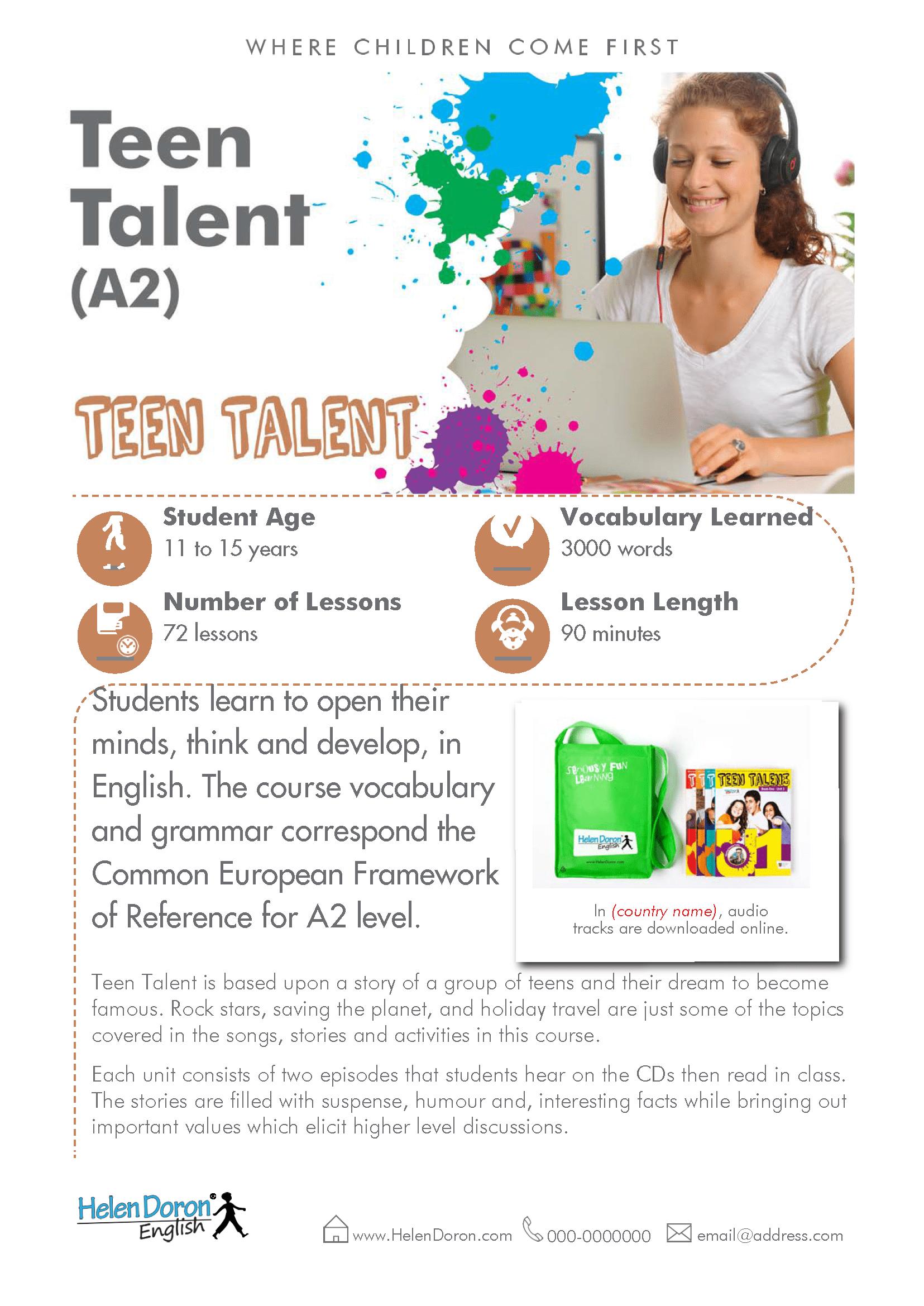 Letöltés - Teen Talent (A2)